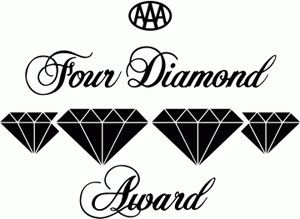 Four Diamond Award logo with 4 diamond shapes in the middle.