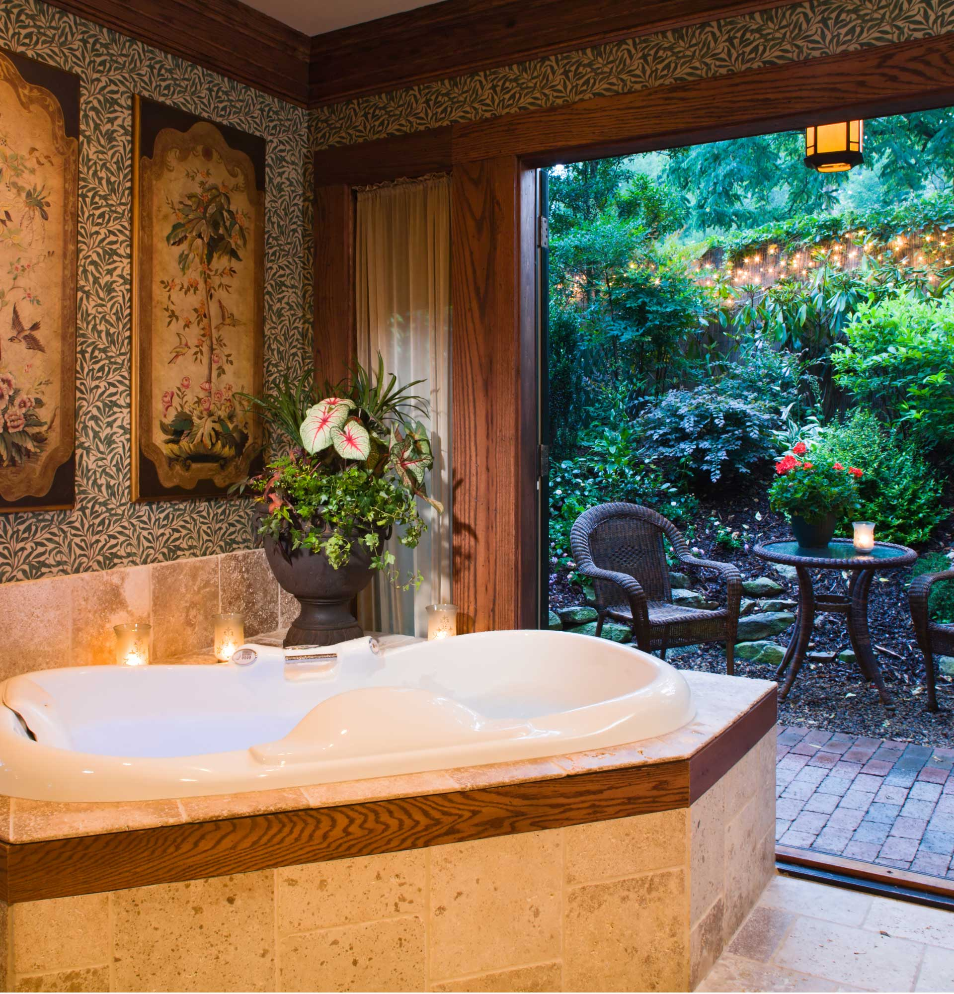 William Morris suite at Inn on Montford in Asheville