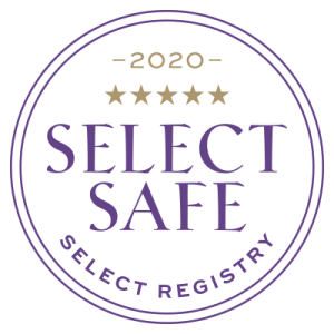 Select Registry logo. Year 2020 writtein in gold with four golden stars below.